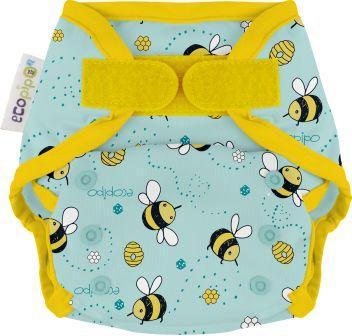 Ecopipo One size wrap Velcro Closure Buzzing Bees