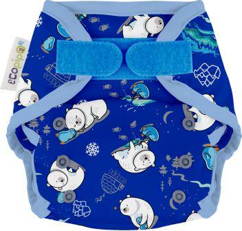 Ecopipo One size wrap Velcro Closure Polar Bears