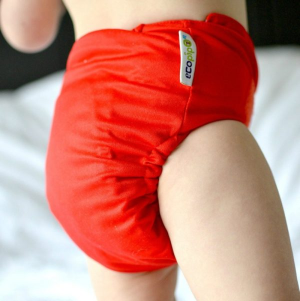 Block colours Ecopipo one size reusable pocket nappy