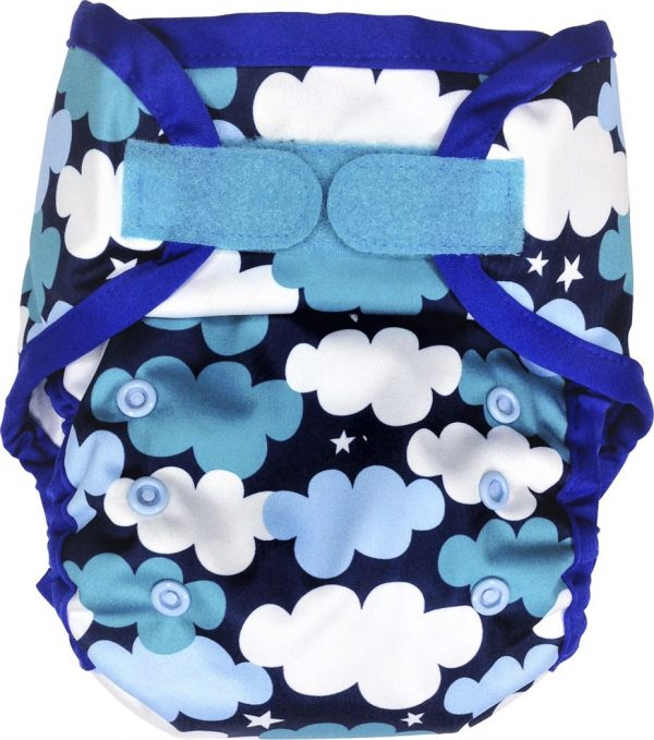 Ecopipo One size PUL Nappy Wrap Clouds