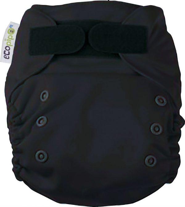 Ecopipo one size pocket nappy black