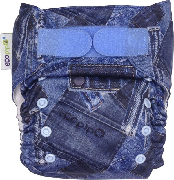 Ecopipo One size Pocket Nappy Blue Jeans