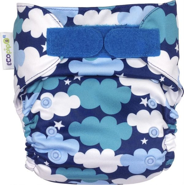 Ecopipo One size Pocket Nappy Clouds