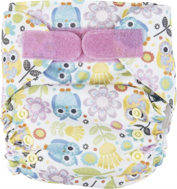 Ecopipo One size Pocket Nappy Pink Owls