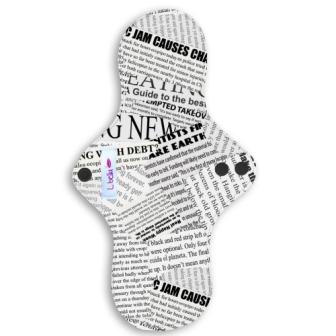 Reusable cloth sanitary pads regular teen newspaper