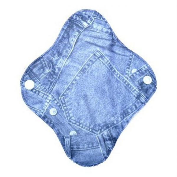 Reusable cloth sanitary pads pantyliner blue jeans