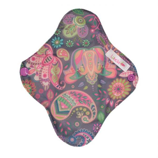Reusable cloth sanitary pads pantyliner ethnic flowers