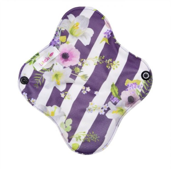 Reusable cloth sanitary pads pantyliner lilies