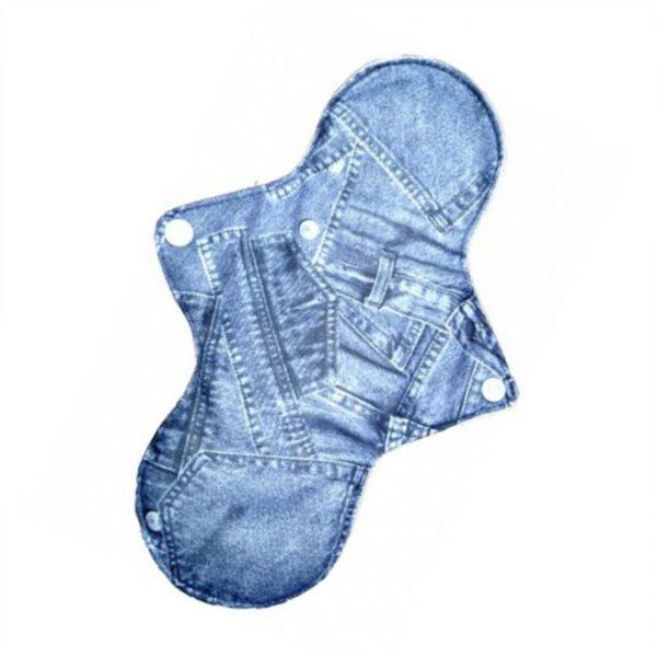 Reusable cloth sanitary pads regular blue jeans