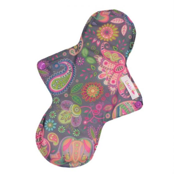 Reusable cloth sanitary pads regular ethnic flowers