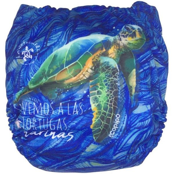Ecopipo One size Pocket Nappy Save the turtles Limited edition (Back)