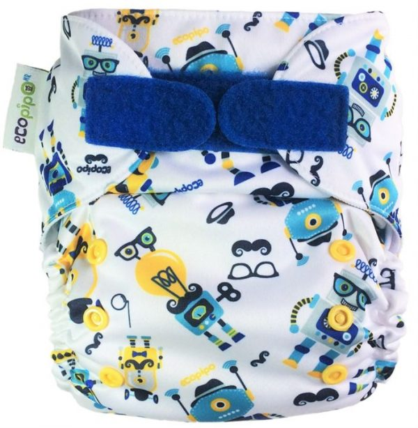 Ecopipo One size Pocket nappy Hipster Robots
