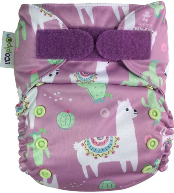 Ecopipo One size Pocket nappy Llamas