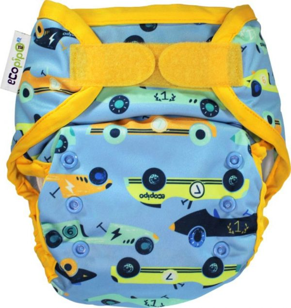 Ecopipo One size nappy wrap racing cars