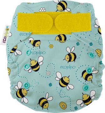 Ecopipo Onesize Pocket Nappy Buzzing bees