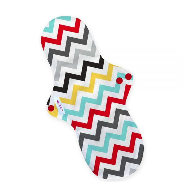 Reusable cloth sanitary pads night time incontinence after birth chevron