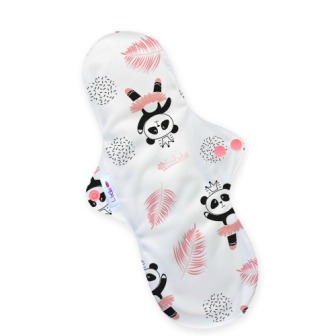 Reusable cloth sanitary pads night time incontinence after birth dancing pandas