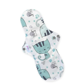 Reusable cloth sanitary pads night time incontinence after birth kittens