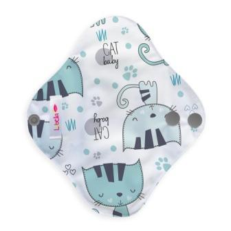 Reusable cloth sanitary pads pantyliner kittens