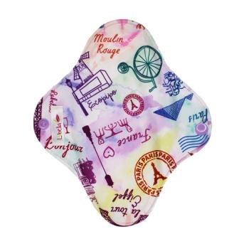 Reusable cloth sanitary pads pantyliner oh la la, Paris!