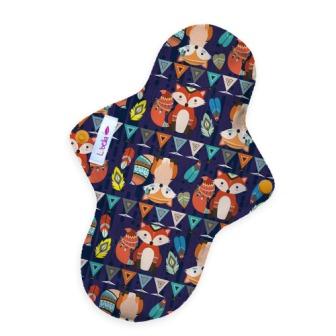 Reusable cloth sanitary pads regular Mr Fox