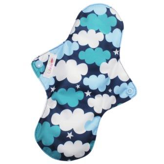 Reusable cloth sanitary pads regular clouds