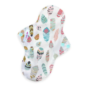 Reusable cloth sanitary pads regular little feathers