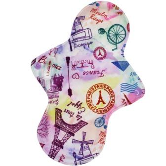 Reusable cloth sanitary pads regular oh la la Paris!