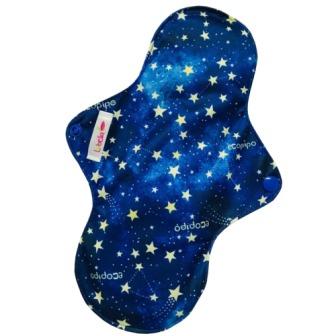 Reusable cloth sanitary pads regular stardust