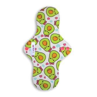 Reusable cloth sanitary pads regular teen avocados