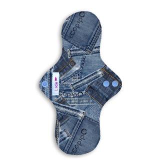 Reusable cloth sanitary pads regular teen blue jeans