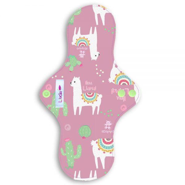 Reusable cloth sanitary pads regular teen llamas