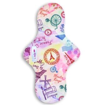 Reusable cloth sanitary pads regular teen oh la la, Paris!