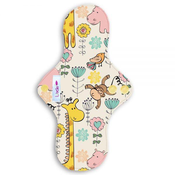 Reusable cloth sanitary pads regular teen safari