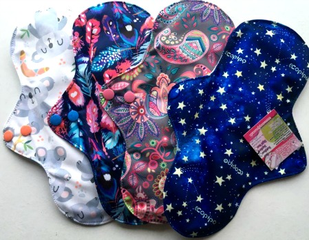 Reusable cloth sanitary pads regular