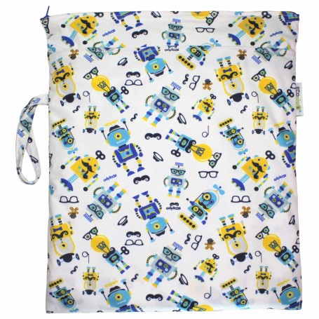 Ecopipo Small Wetbag Hipster Robots